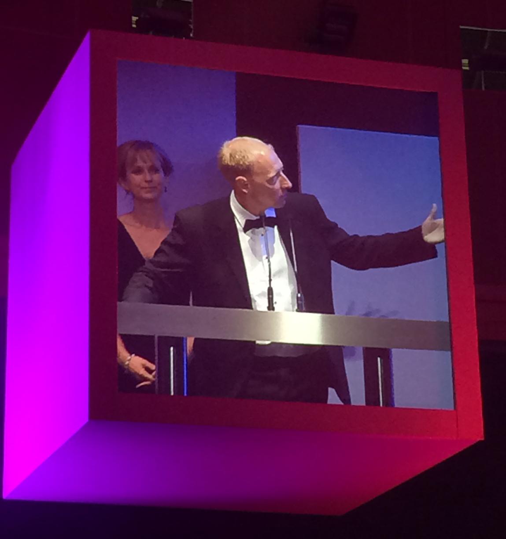 Chris Clark accepts the Award for Prosperity 24.7